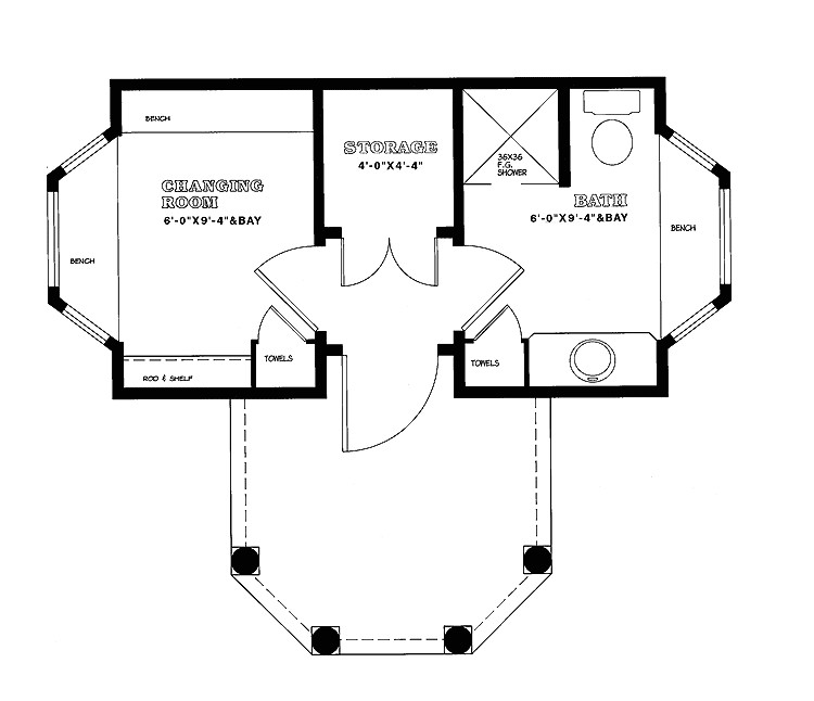 small pool house plans