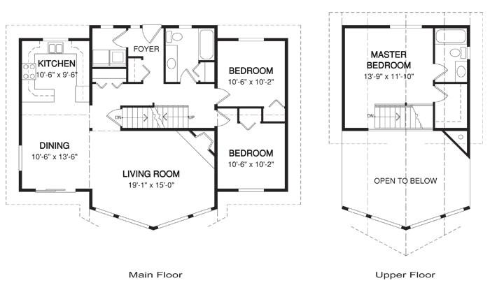 cascade post beam homes cabin garages home plans