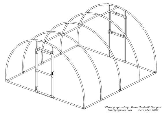 hoop house and high tunnel greenhouse designs