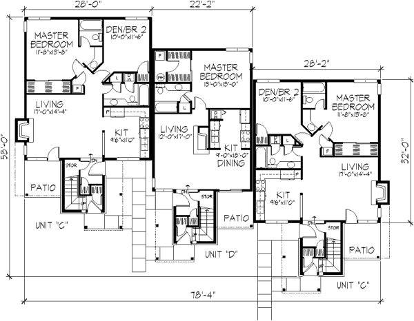 quadruplex house plans luxury 32 best duplex images on pinterest