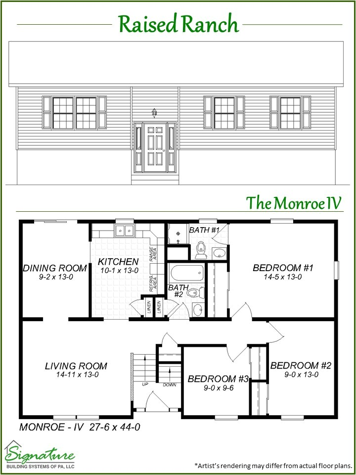raised ranch floor plans