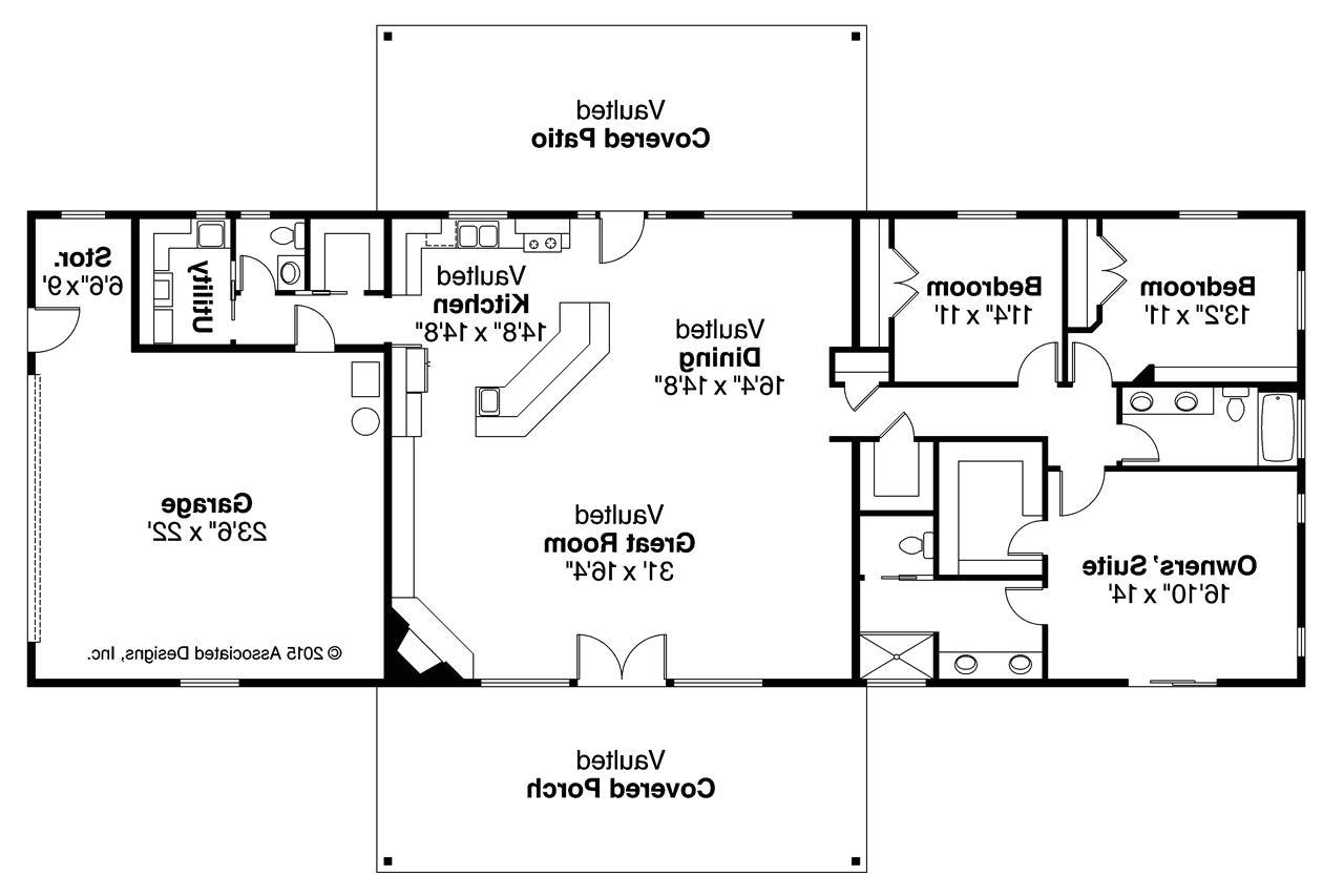 Ranch Home Floor Plans Ranch House Plans Ottawa 30 601 associated Designs