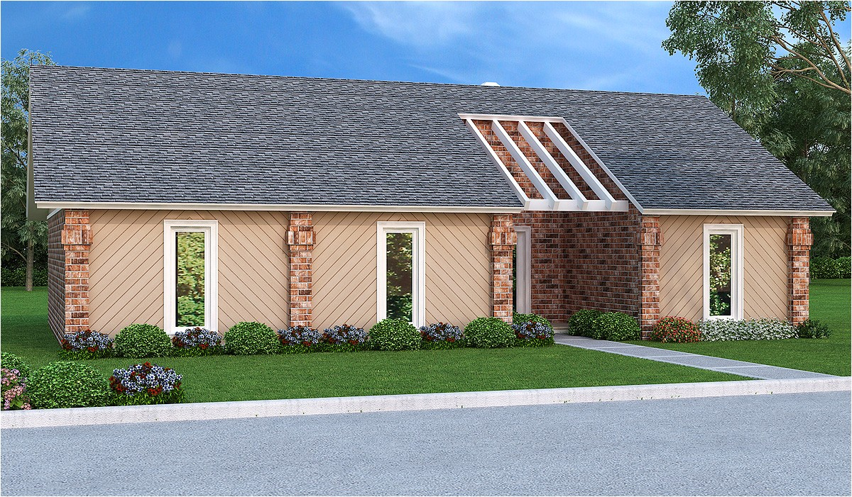 easy to build 3 bed ranch home plan 55165br