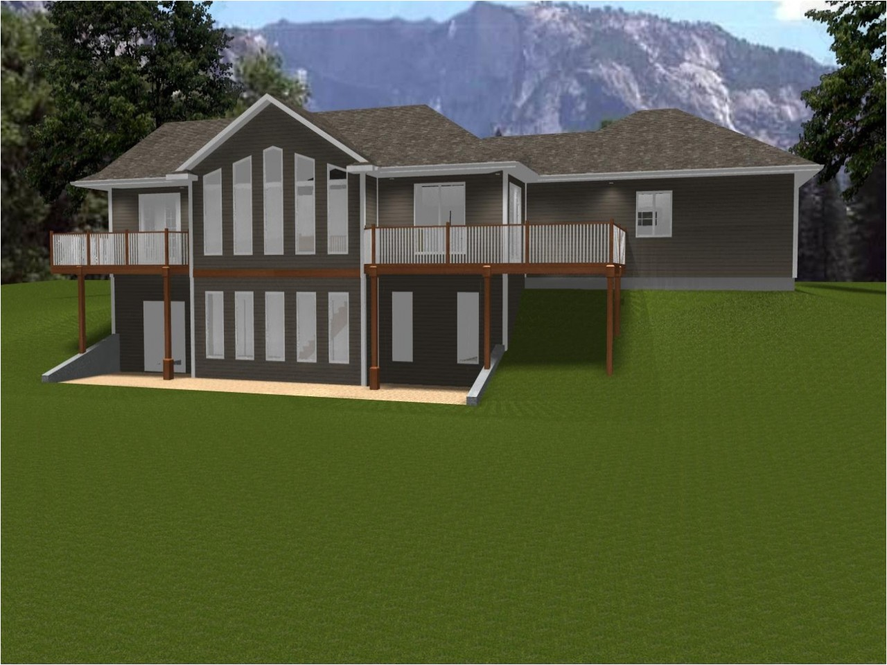 ranch house plans with walkout basement ranch house plans 35598045eb28f77c