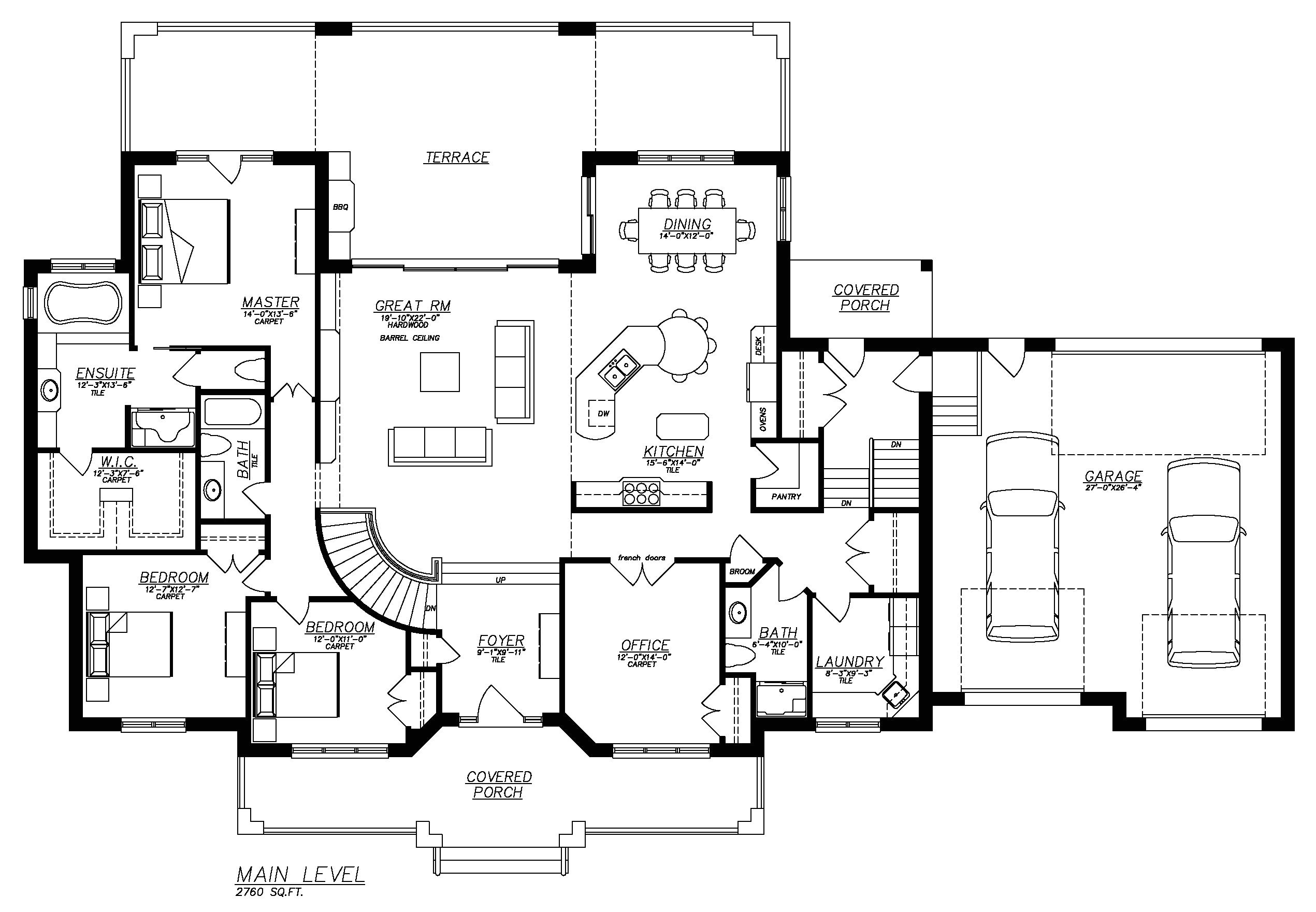 ranch style house plans with full basement