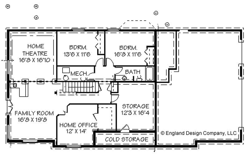 simple ranch house plans with basement