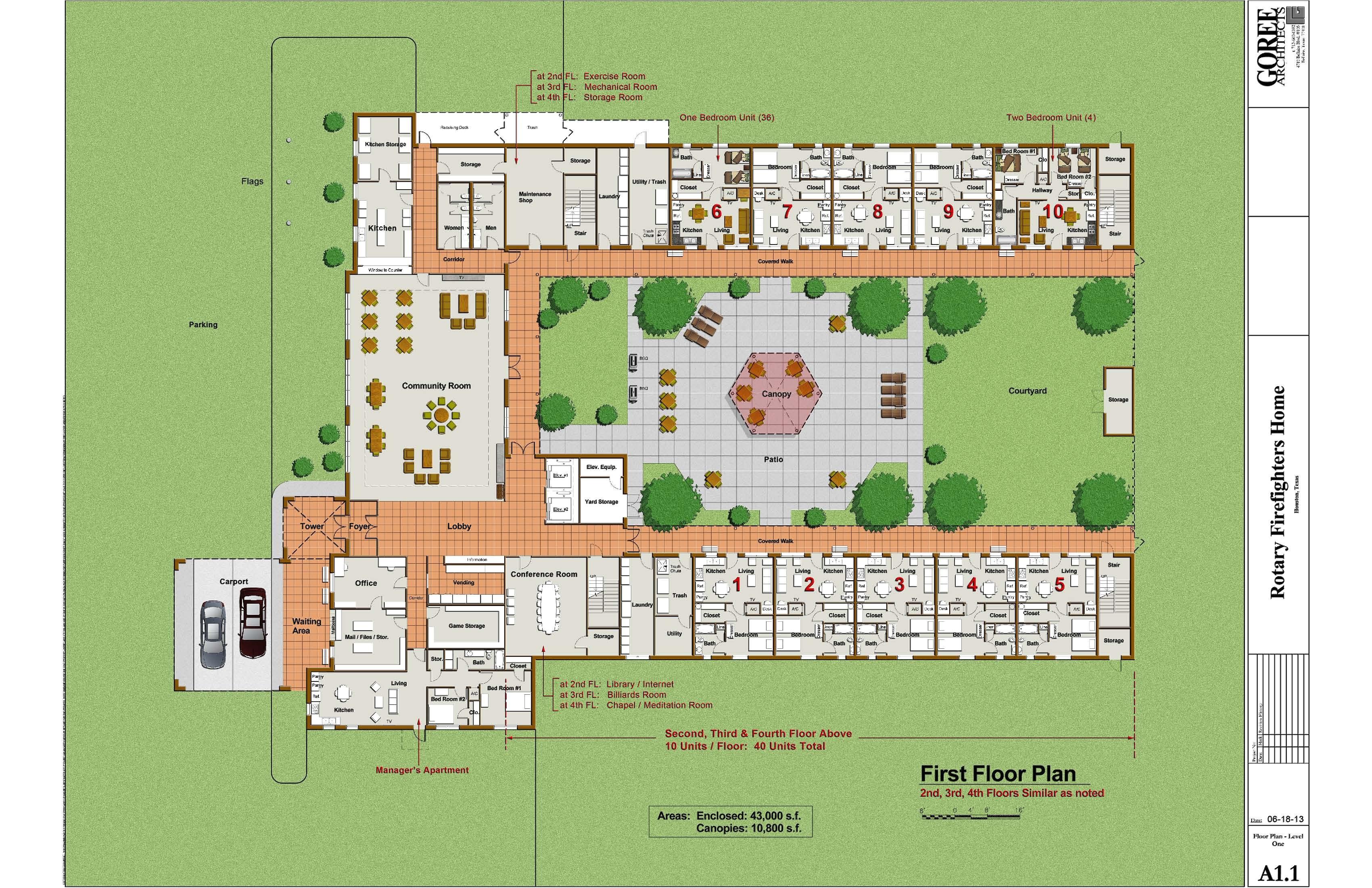 Retirement Home Design Plans Nursing Home Floor Plans Building Plans Online 37876