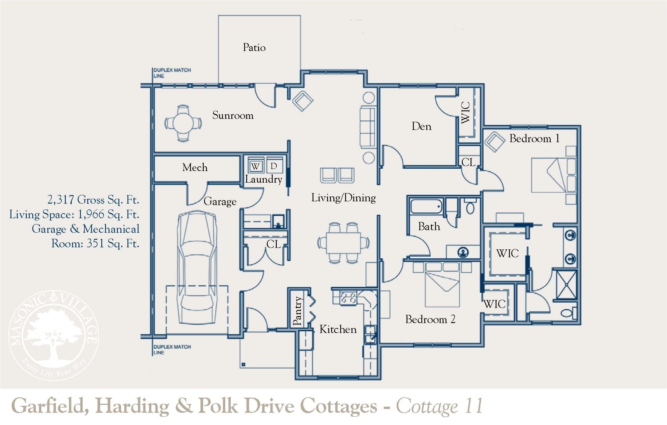 retirement village home floor plans