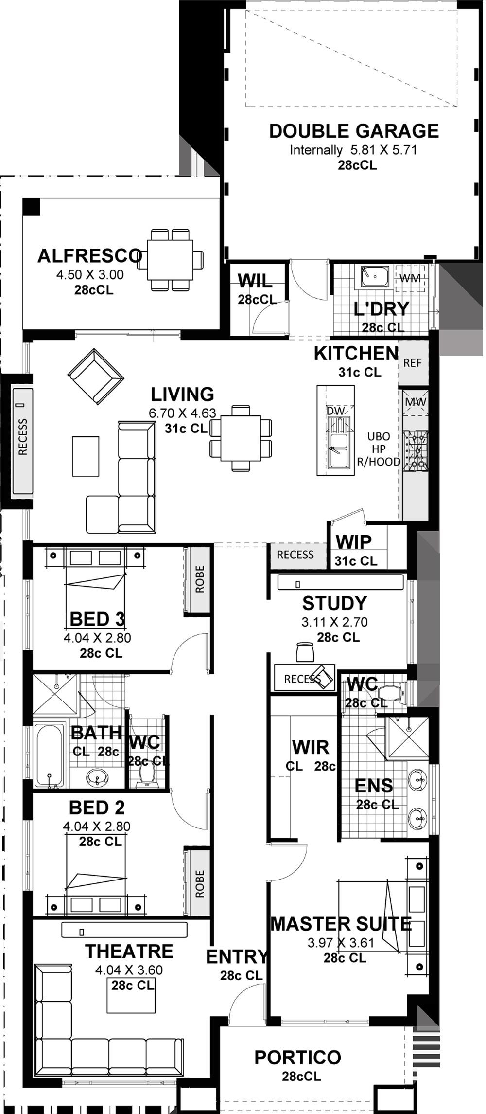 rear lane single storey house plans designs