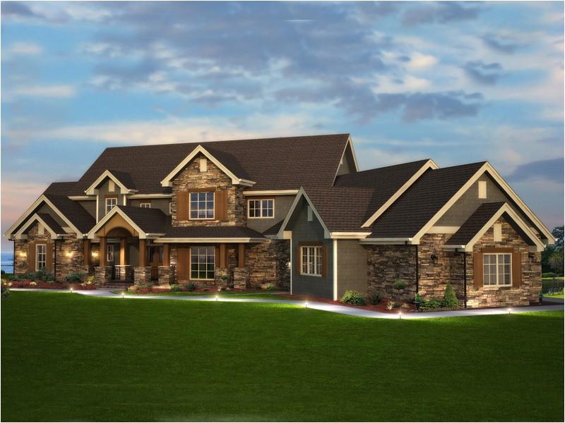 Rustic Luxury Home Plan Elk Trail Rustic Luxury Home Plan 101s 0013 House Plans