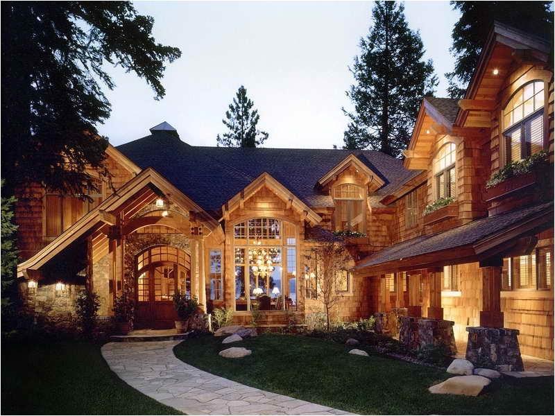 luxury rustic lake house plan ideas