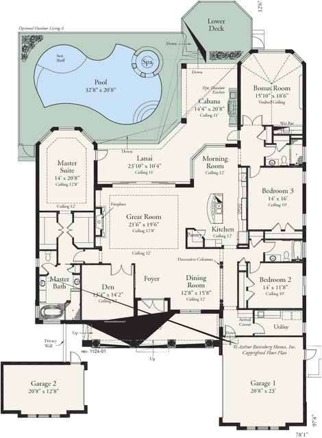 amelia 1124 traditional floor plan tampa