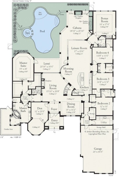 carlisle 1100 traditional floor plan tampa