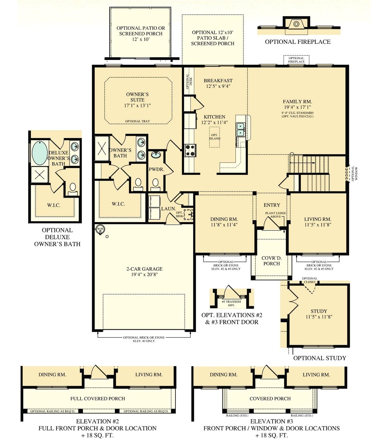 ryan homes wexford floor plan
