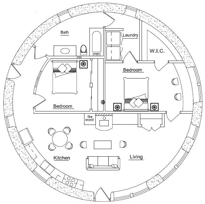 Sandbag Home Plans Castle Earthbag House Plans