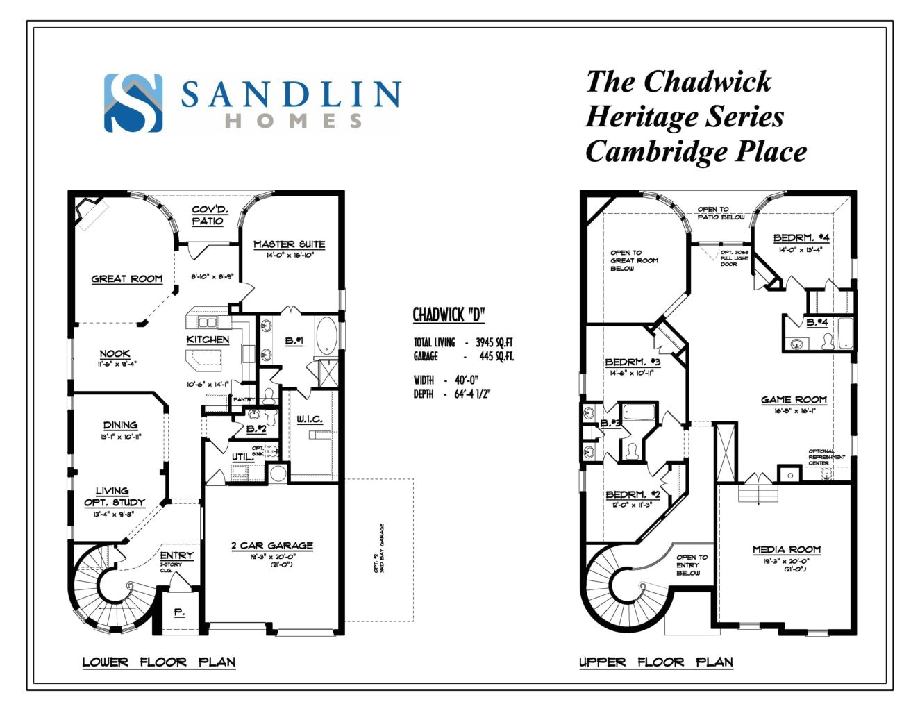 sandlin floorplans chadwick