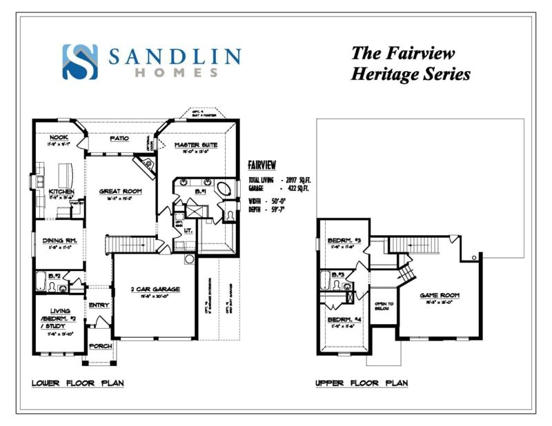 sandlin floorplans fairview