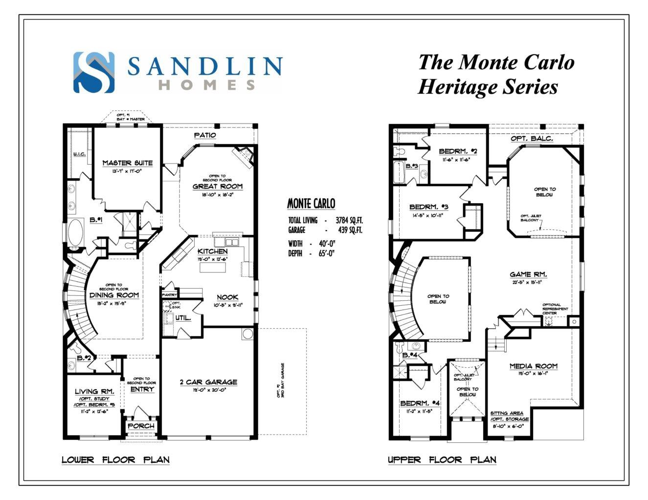 sandlin floorplans monte carlo