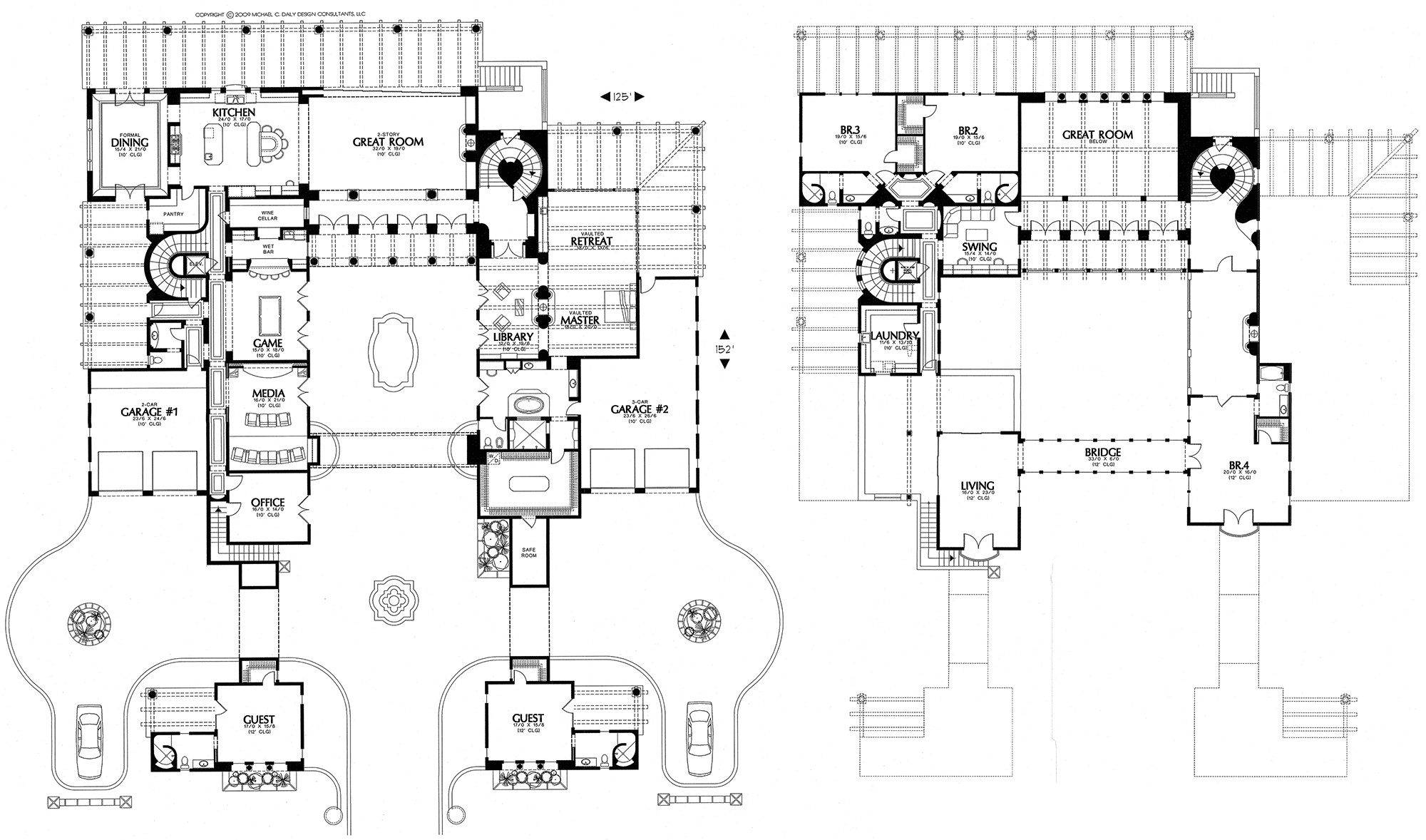 courtyard home plans