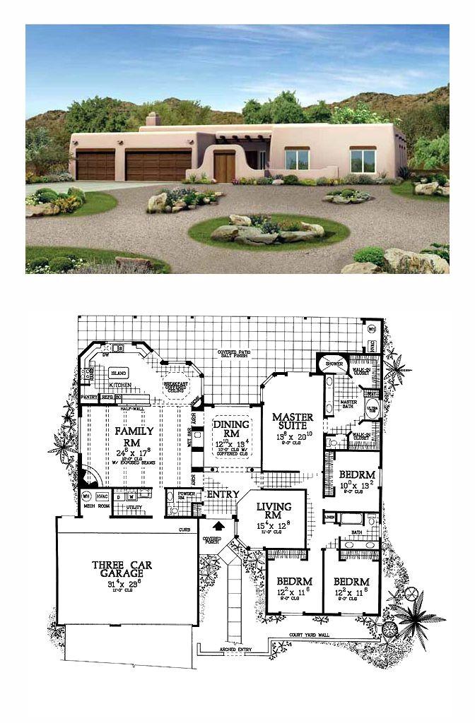 luxury santa fe house plans