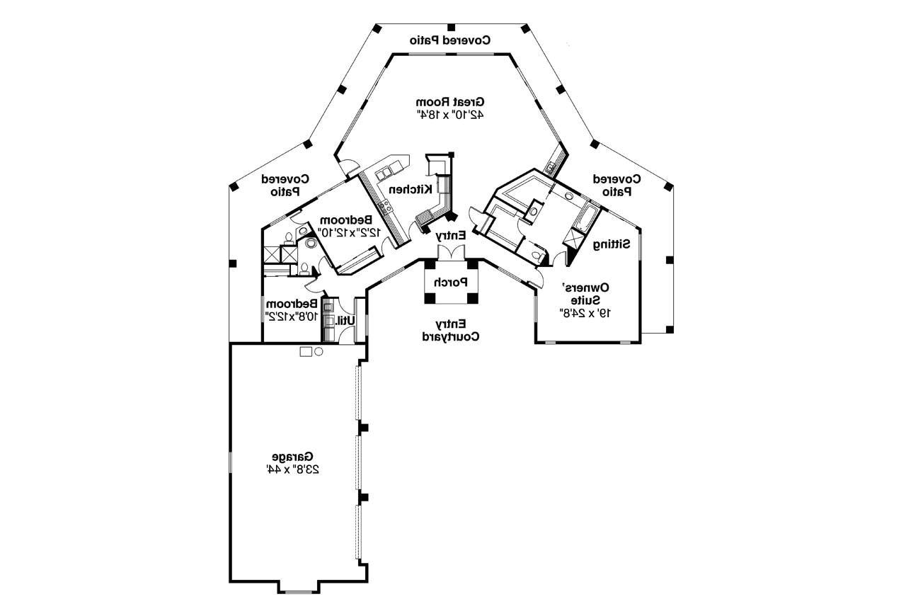 Santa Fe Style Home Floor Plans southwest House Plans Santa Fe 11 127 associated Designs