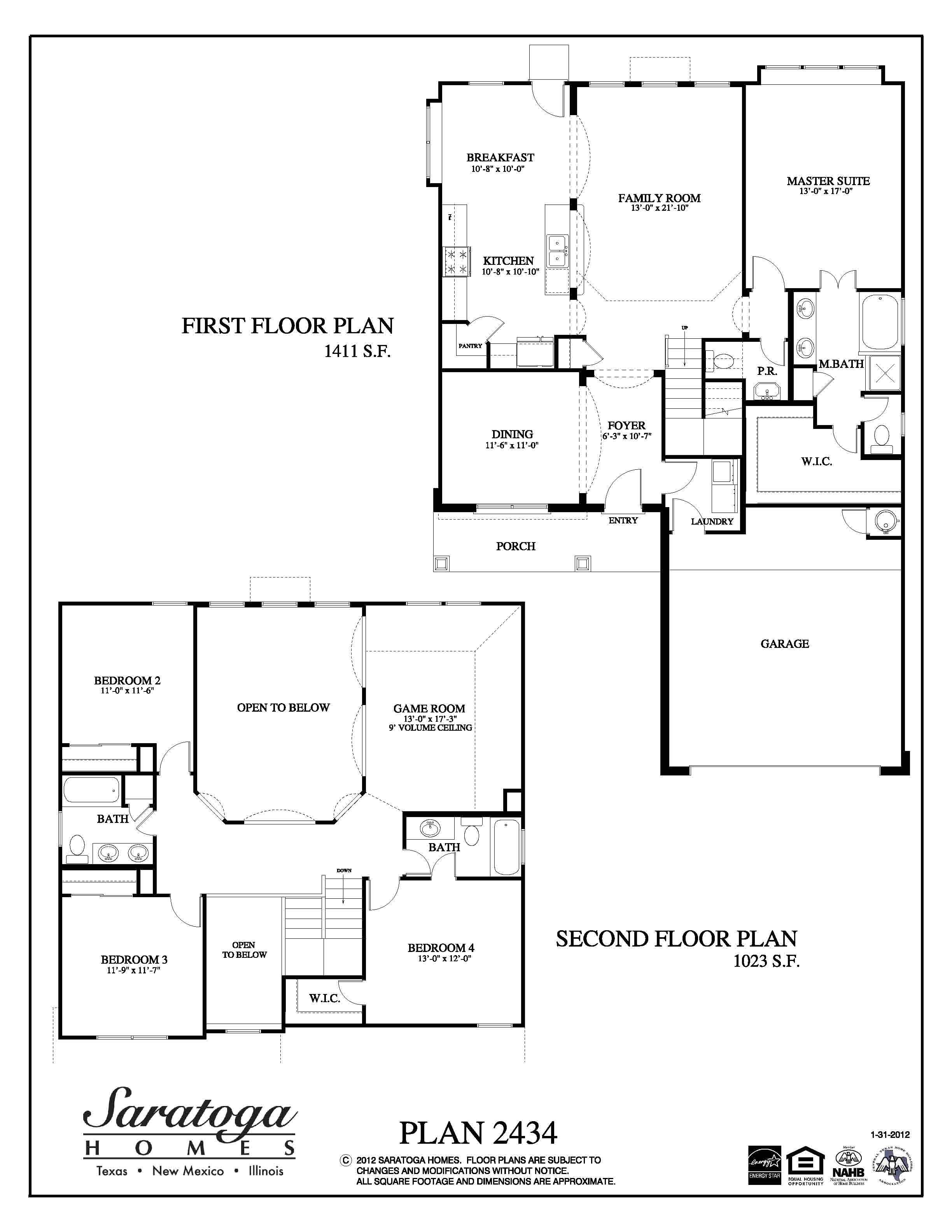 Saratoga Homes Floor Plans Plan 2434 Saratoga Homes Houston