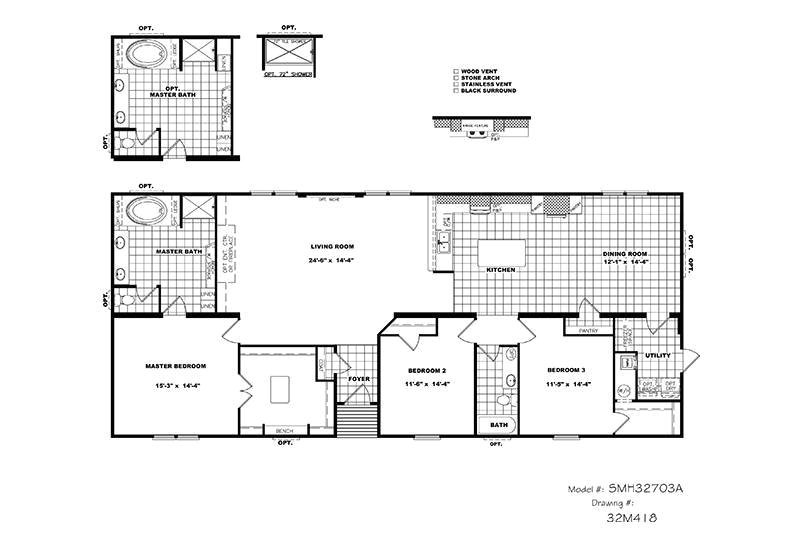 Schult Modular Home Floor Plans Cmh Schult Tyler Smh32703a Mobile Home for Sale