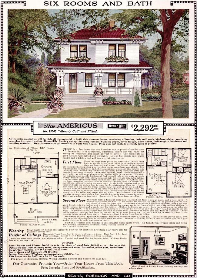 Sears Home Maintenance Plan Free Home Plans Floor Plans Sears Kit House