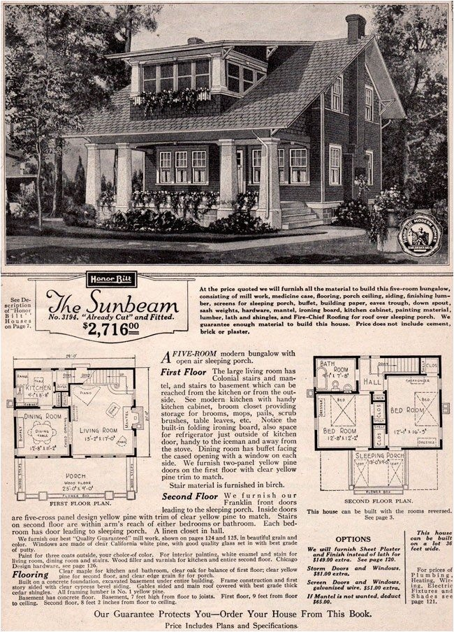 sears craftsman bungalow house plans beautiful 1923 sears modern home kit house sunbeam craftsman bungalow