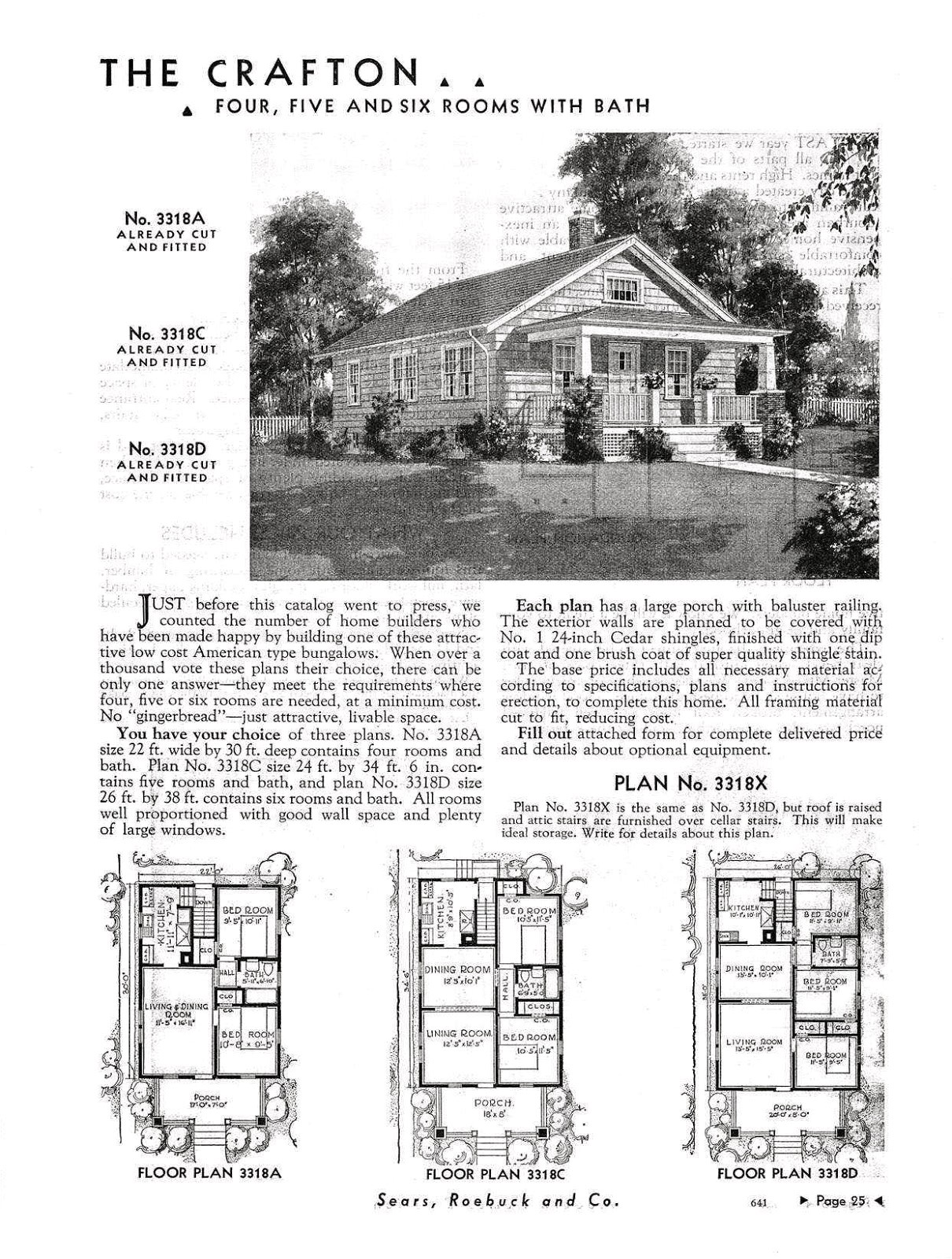 Sears Kit Homes Floor Plans Small Scale Homes Sears Kit Homes