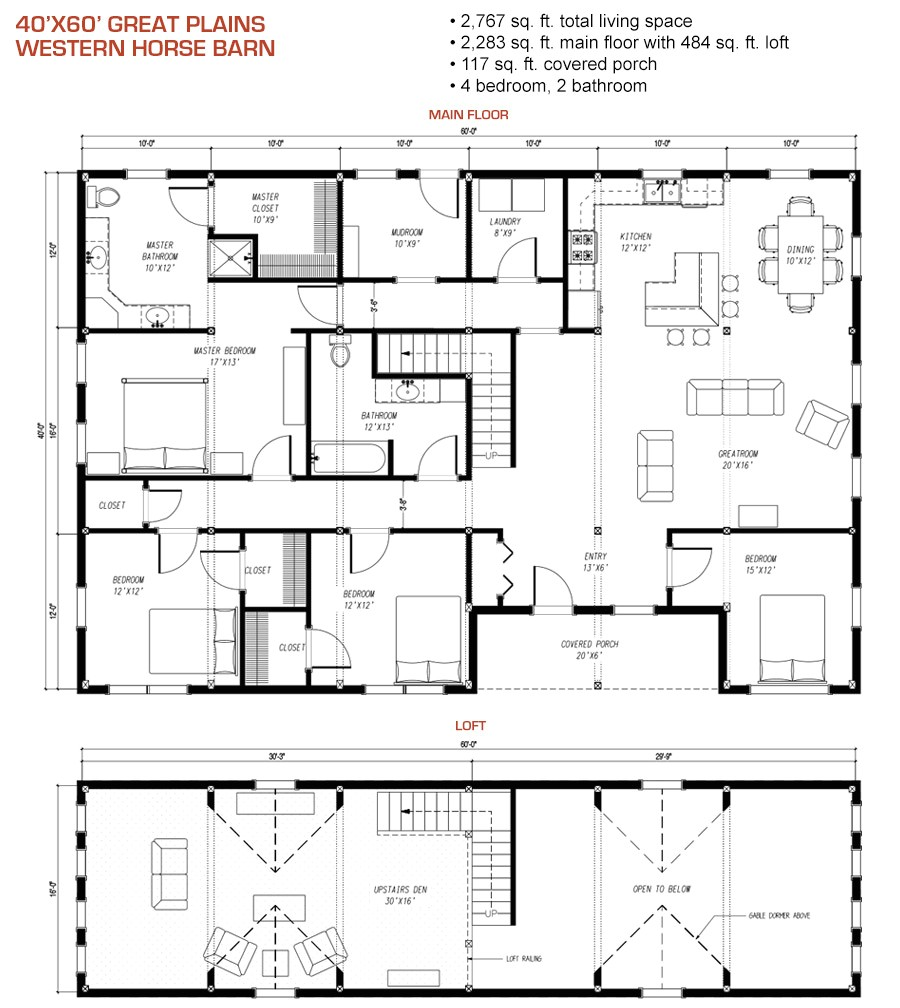charm and contemporary design pole barn house floor plans