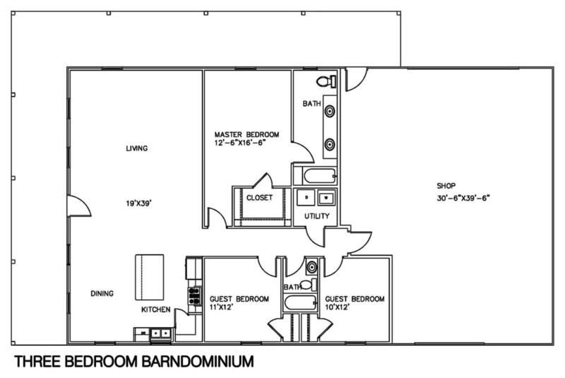 Shop Homes Floor Plans 30 Barndominium Floor Plans for Different Purpose