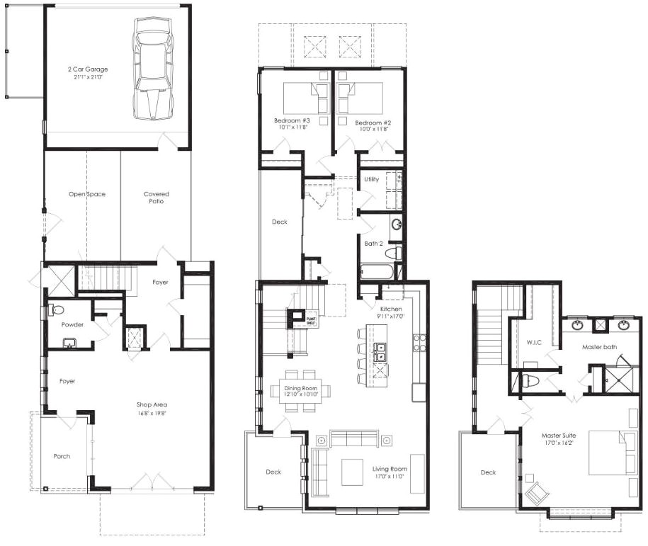 shop house floor plans