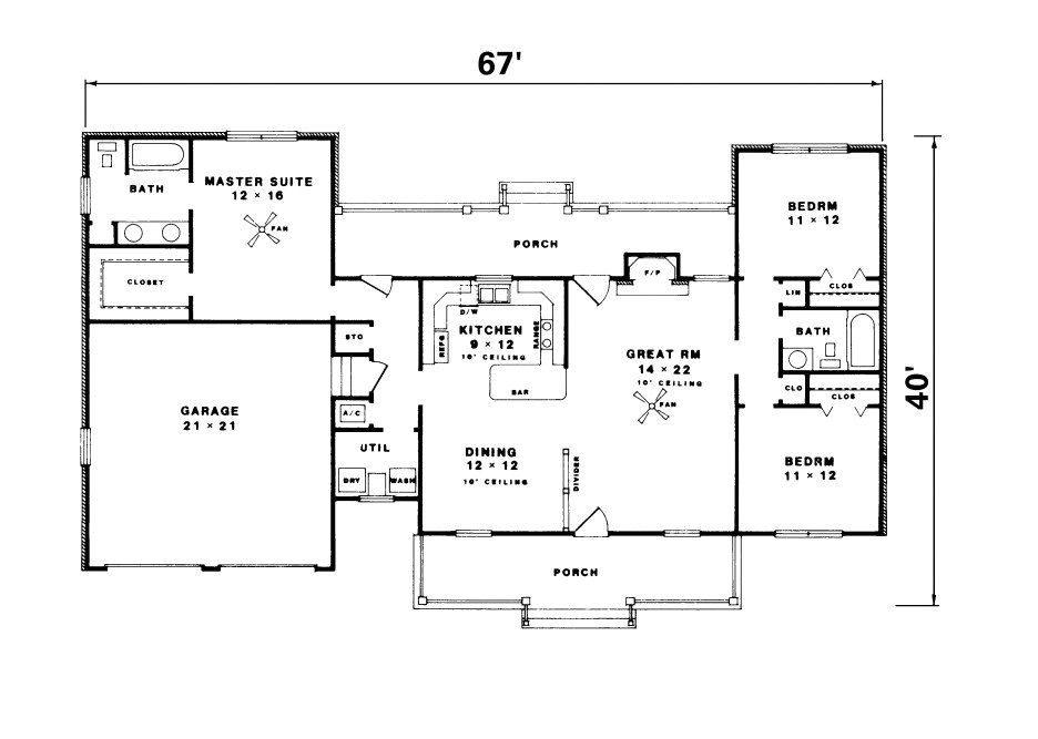 simple ranch house floor plans luxury simple ranch house plan