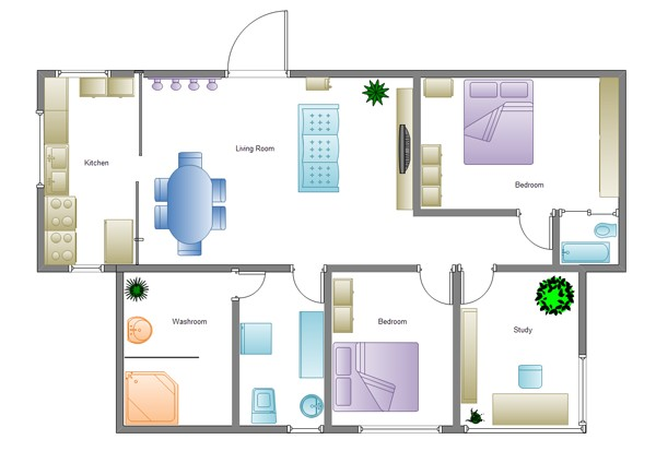 Simple Home Building Plans Building Plan software Edraw