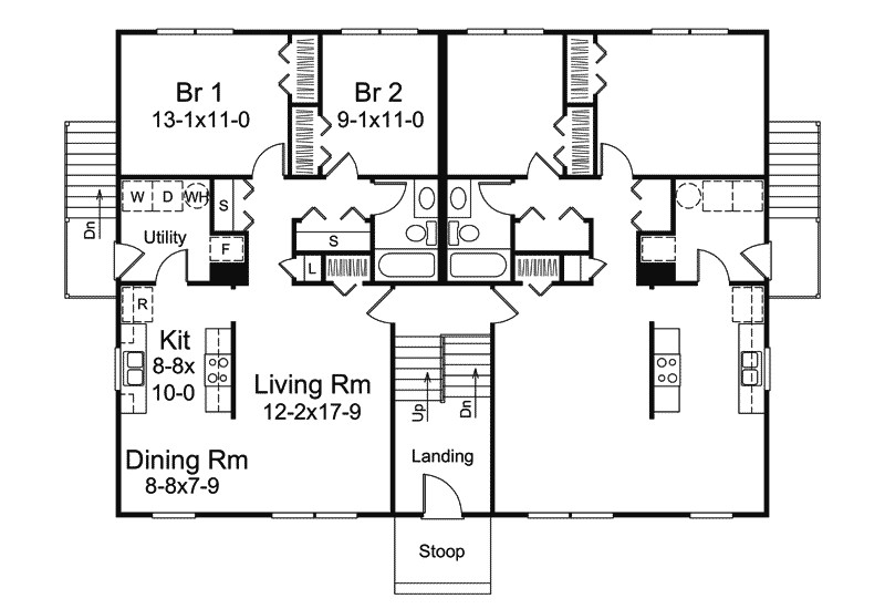 colonial house plan first floor plans more 9