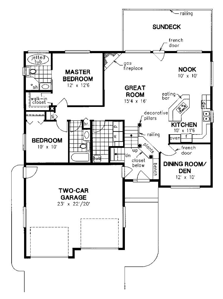 simple split level house plans