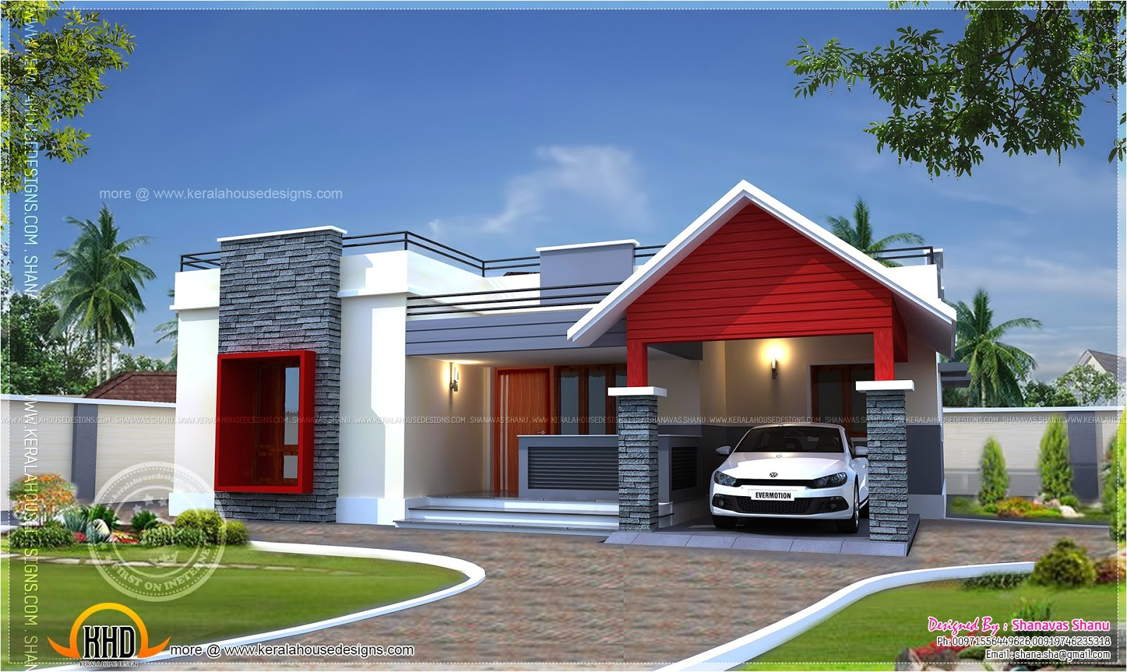 Single Home Plans Single Floor Home Plan In 1400 Square Feet Kerala Home
