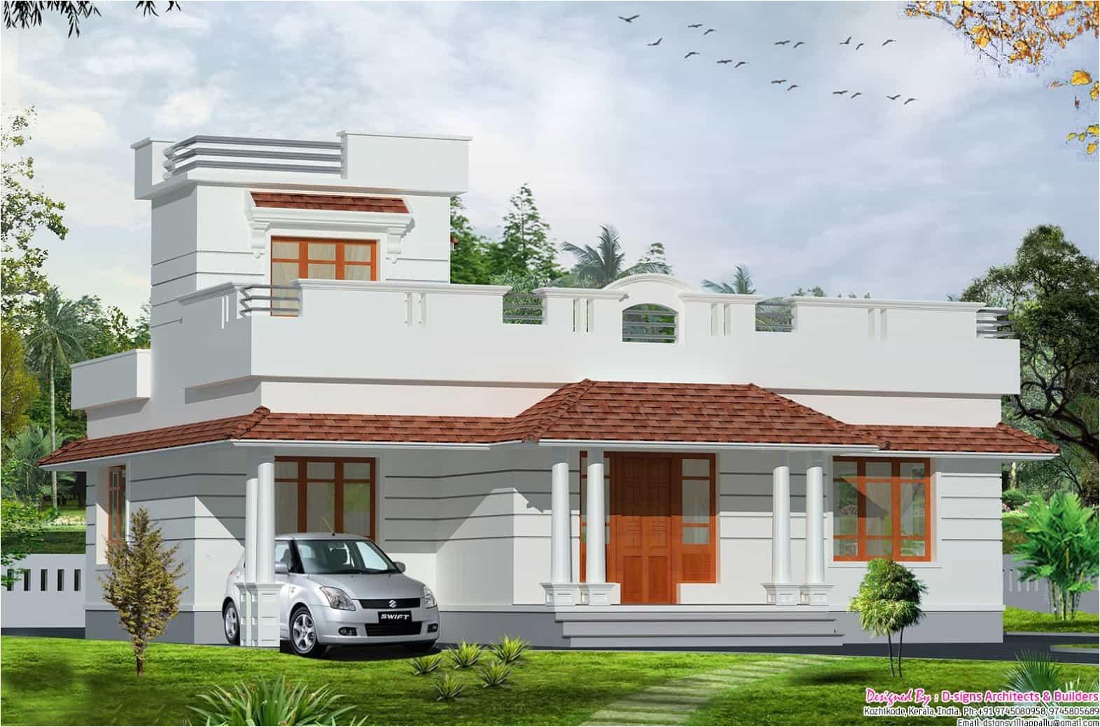 single floor house designs