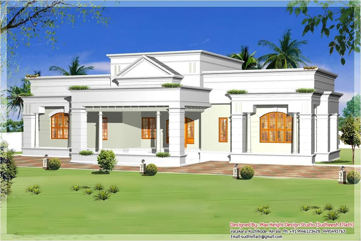 single storey kerala house model with kerala house plans