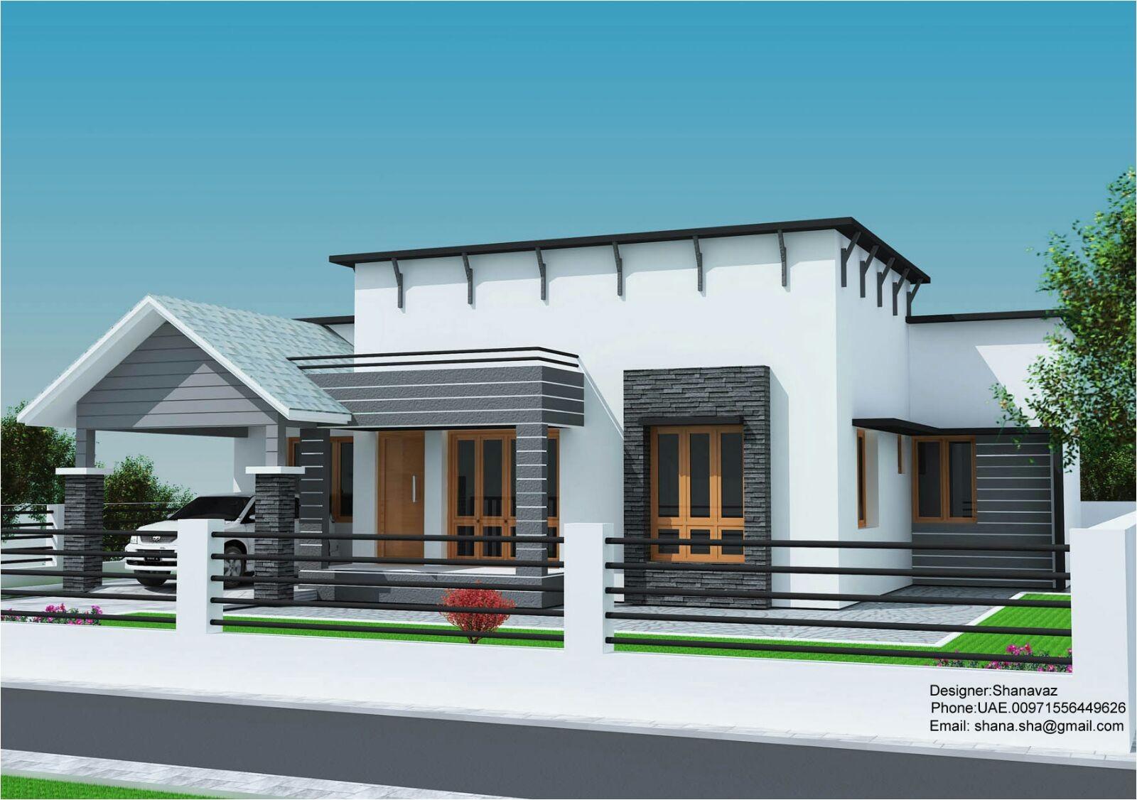 small plot 3 bedroom single floor house plan kerala