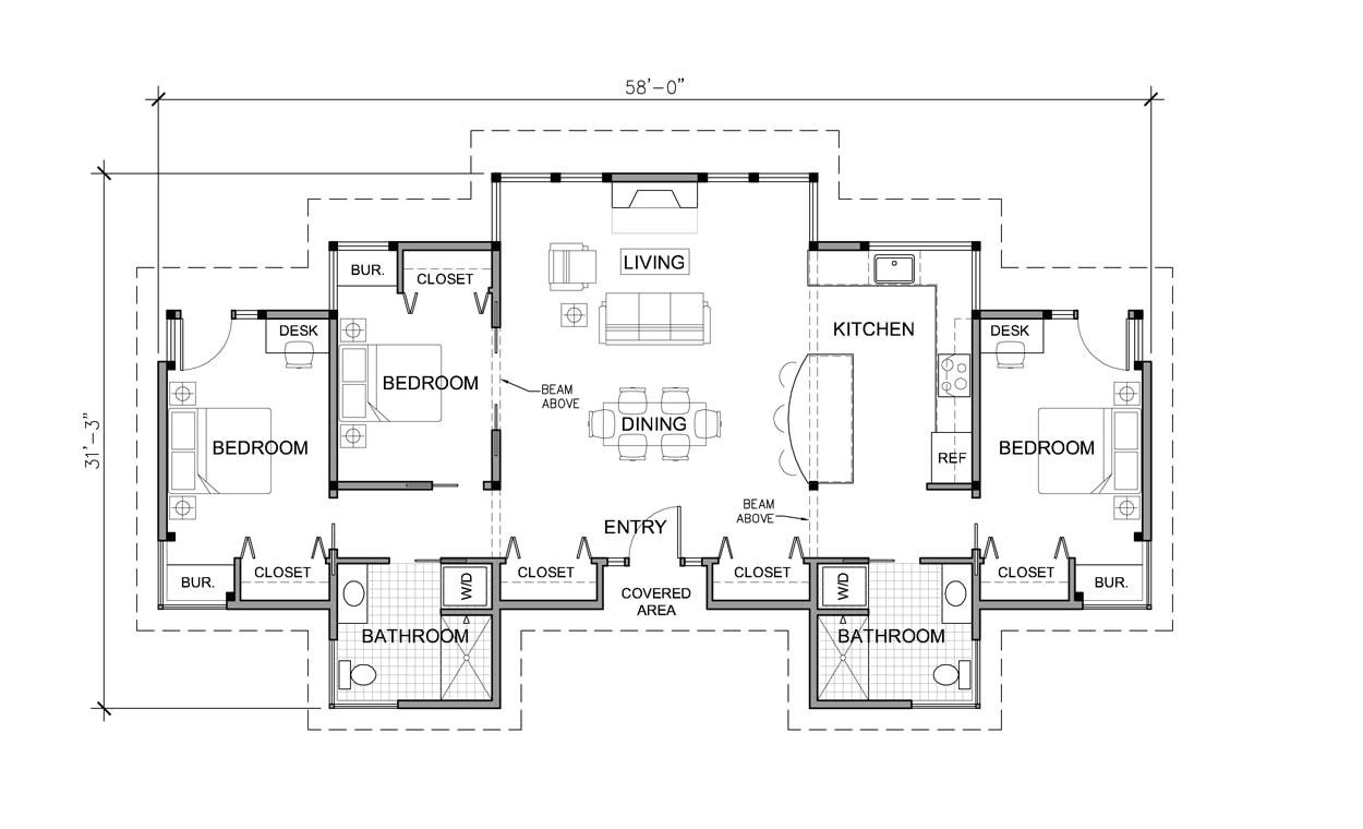 Single Story Home Floor Plans 3 Bedroom House Plans One Story Marceladick Com