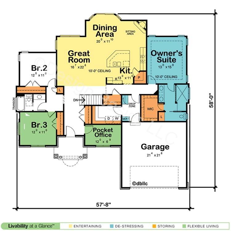 borderline genius one story home plans