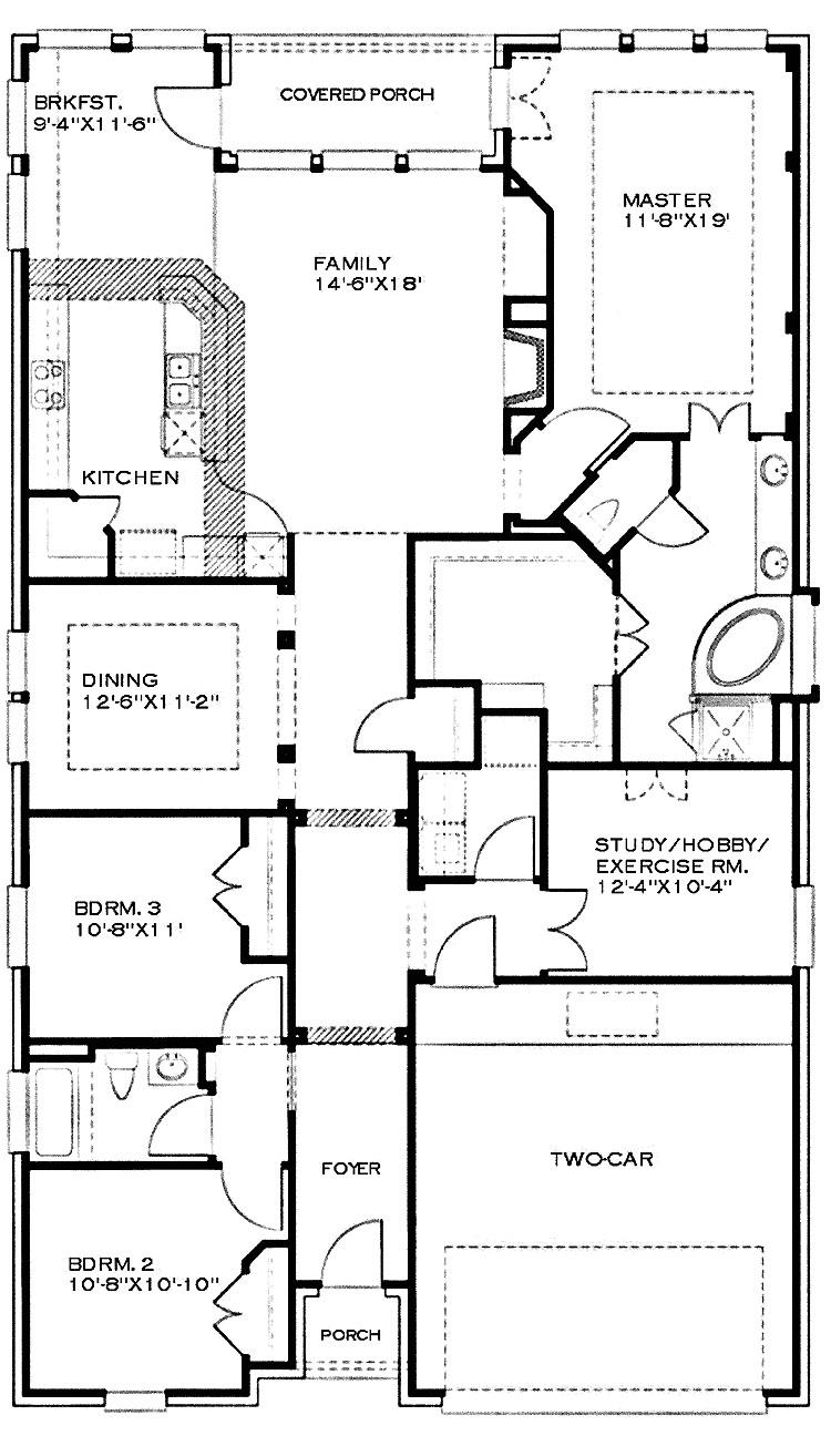 one story house plans bonus room