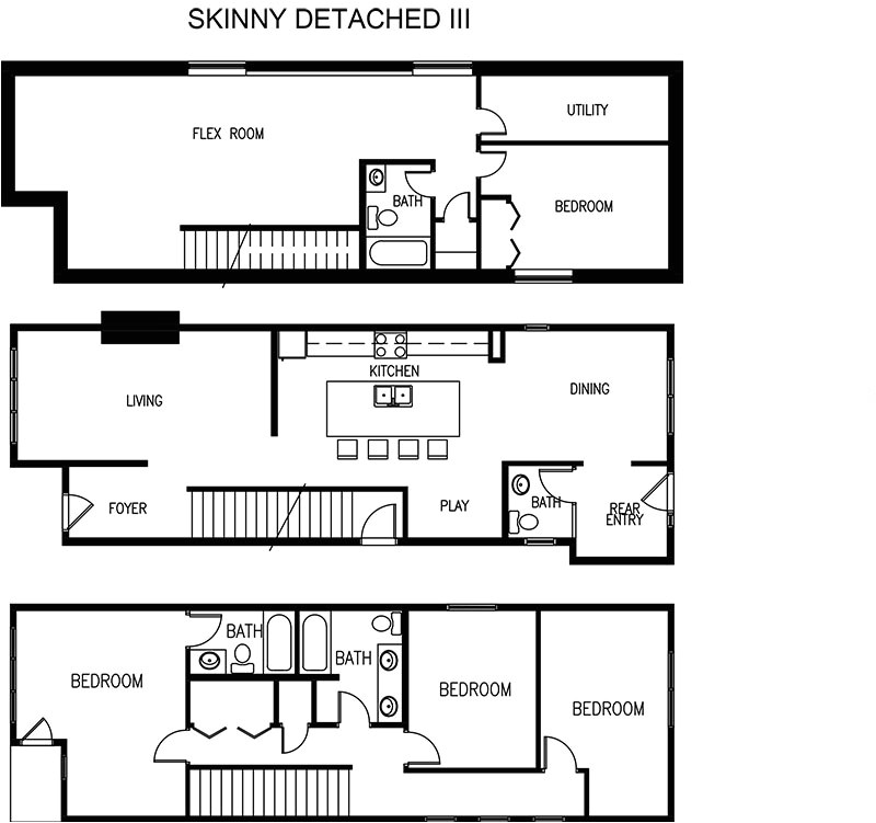 house plans for narrow lots with detached garage