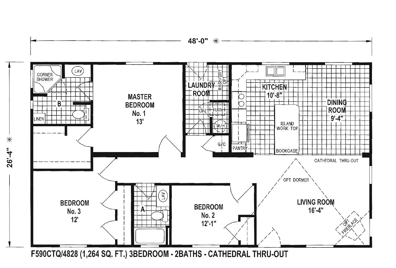 1980 skyline mobile home floor plans