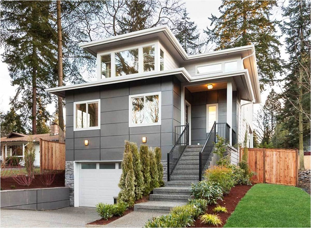 small modern hillside house plans