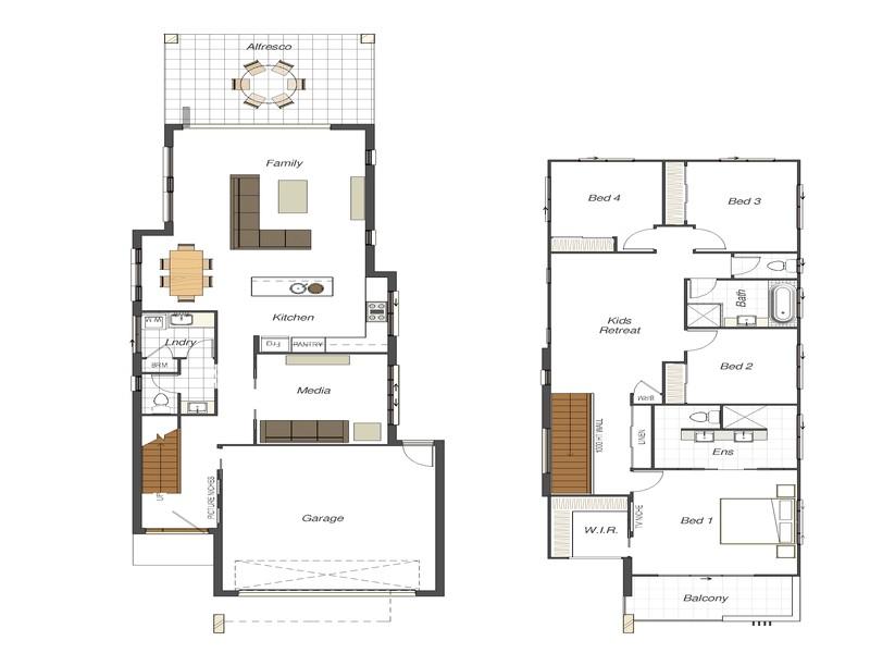 small lot house floor plans narrow lot
