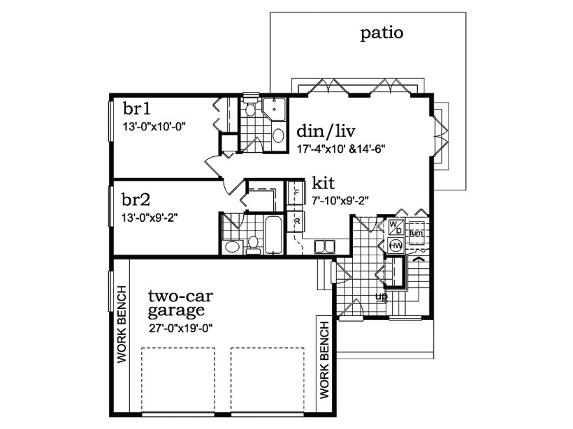 small house floor plans with walkout basement