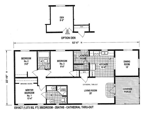 small mobile home floor plans